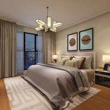 新中式去繁就简,卧室飘窗的设计深得我心