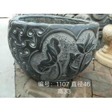 仿古石雕造型鱼缸
