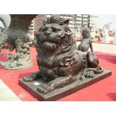 石雕动物雕塑狮子工艺品摆件