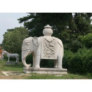 园林景观动物雕塑大象石雕