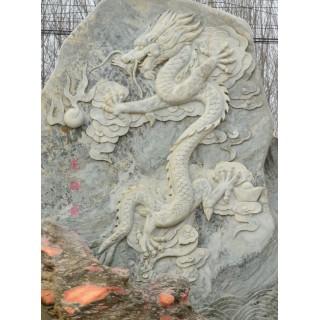 龙纹式石浮雕景观雕塑建筑