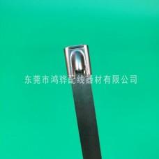 东莞鸿骅本色不锈钢扎带,白钢不锈钢扎带钢珠自锁型