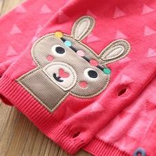 贴布小兔针织外套
