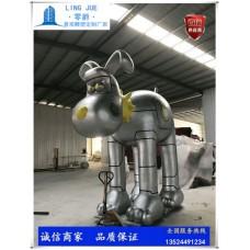 禮盒狗雕塑-玻璃鋼狗定制