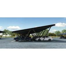 晶大科技BIPV光伏車棚支架