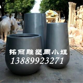 供应玻璃钢雕塑圆形花盆