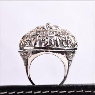 东莞饰品加工厂家欧美 中东镶钻个性新款OEM定制男士戒指