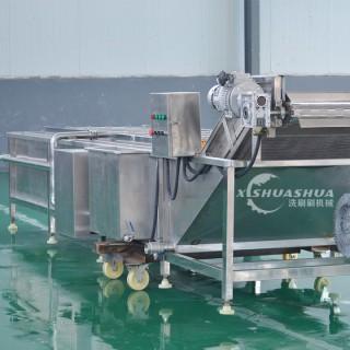 洗刷刷XSS-5000小龙虾加工设备 大闸蟹超声波清洗流水线