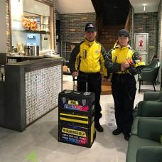 青島鼎粵軒粵式早點廚房大廳用餐區洗手間地面防滑施工