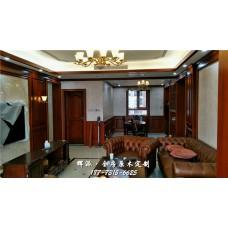 长沙市原木家具厂印尼材料、原木橱柜、储物柜定做真很漂亮