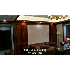 长沙原木定制家具批发代理、原木橱柜、护墙板定制保价全年