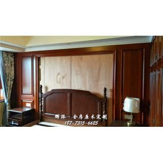 长沙全房原木家具厂家质检、原木门套、酒柜门定做设计图片