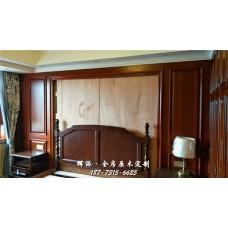 長沙全房原木家具廠家質檢、原木門套、酒柜門定做設計圖片