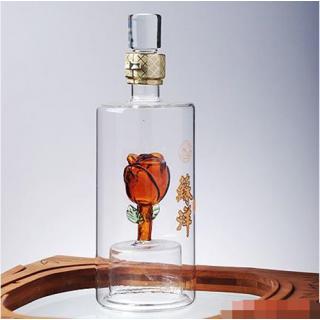 河北玻璃酒瓶厂家定制高硼硅玻璃工艺酒瓶