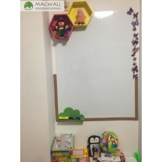 磁善家办公装饰无钉免胶可书写易擦拭磁性软白板