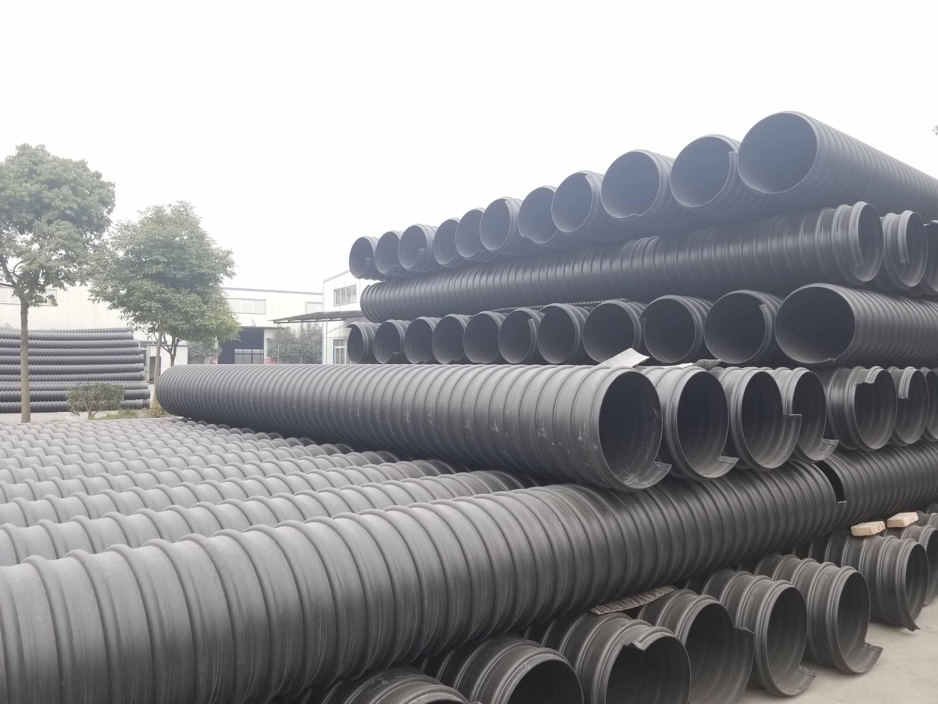 巴中 達州 廣元HDPE鋼帶波紋管,波紋管價格管道生產廠家