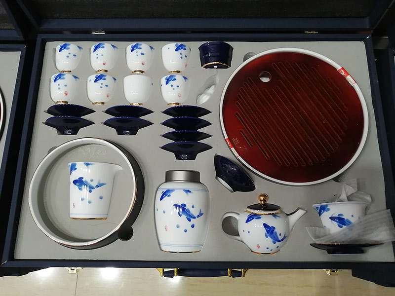 景德镇中式陶瓷功夫茶具定制周年庆典礼品